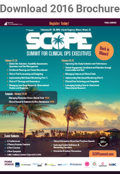 Summit for Clinical Ops Executives (SCOPE)